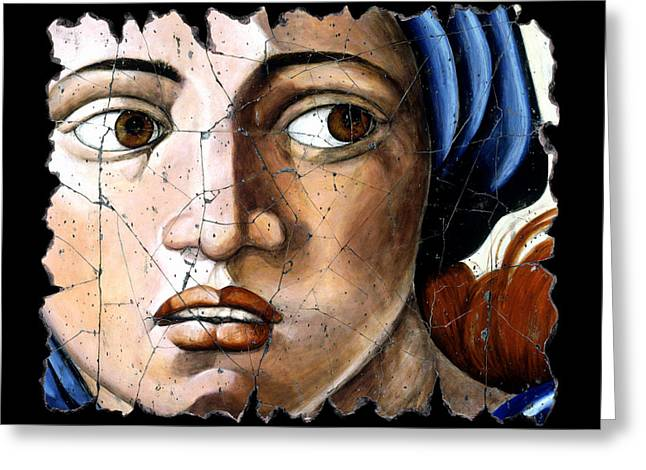 Sibyl Of Delphi Greeting Card by Steve Bogdanoff