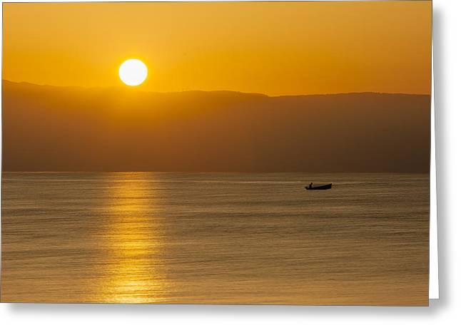 Sicilian Dawn Greeting Card by Alfio Finocchiaro