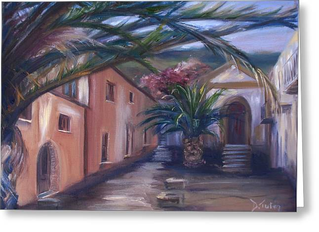 Sicilian Nunnery II Greeting Card by Donna Tuten