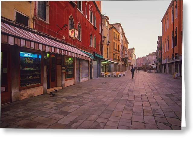 Sicilian Street Scene Greeting Card by Cliff Wassmann