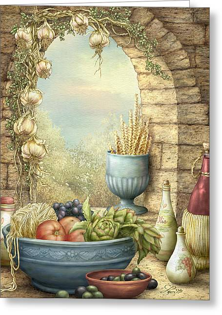 Sicilian Window. Greeting Card by Beverly Levi-Parker