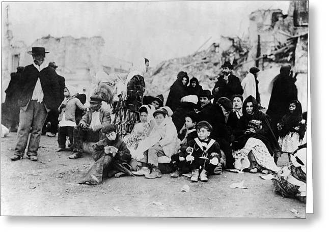 Sicily Refugees, C1909 Greeting Card by Granger