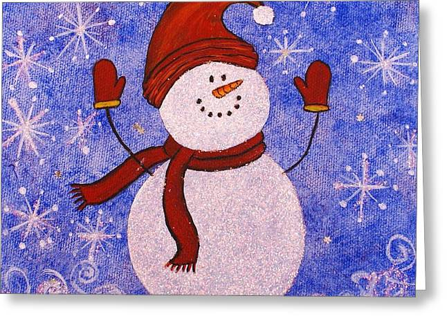 Sid The Snowman Greeting Card by Jane Chesnut