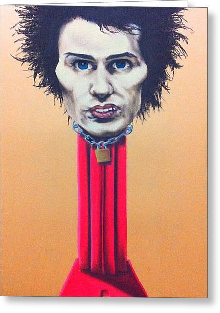 Sid Vicious Greeting Card by Brent Andrew Doty
