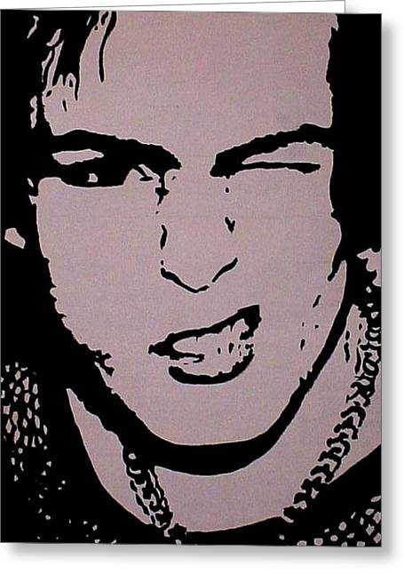 Sid Vicious Greeting Card by Chris P Jones