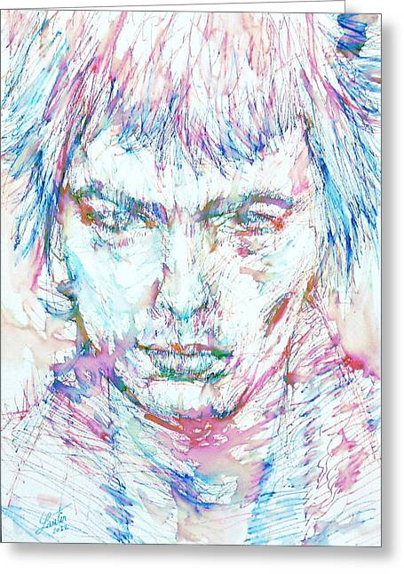 Sid Vicious - Colored Pens Portrait Greeting Card by Fabrizio Cassetta