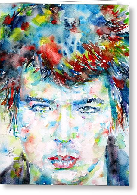Sid Vicious Greeting Card by Fabrizio Cassetta