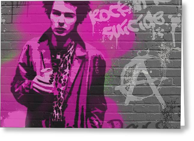 Sid Vicious Greeting Card by Paul Green