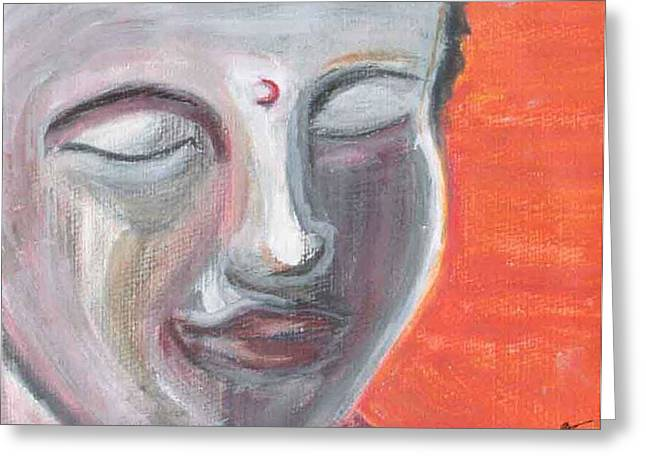 Siddharta Greeting Card by Michelle Foster