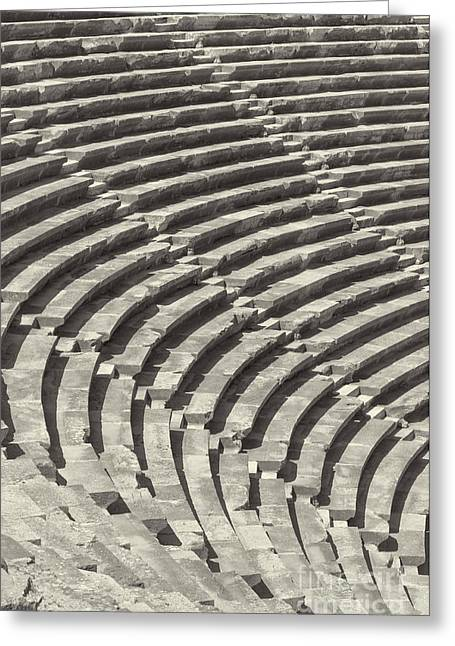 Side Amphitheatre 01 Greeting Card by Antony McAulay