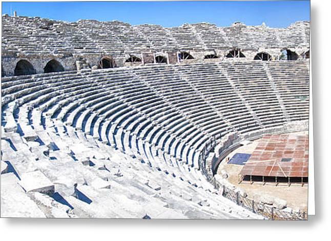 Side Amphitheatre Panorama Greeting Card by Antony McAulay