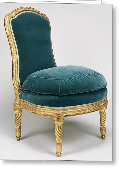 Side Chair Chaise à La Reine Jean Boucault Greeting Card by Litz Collection