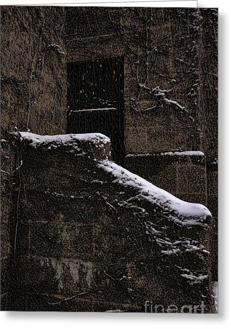 Side Door Greeting Card by Jasna Buncic