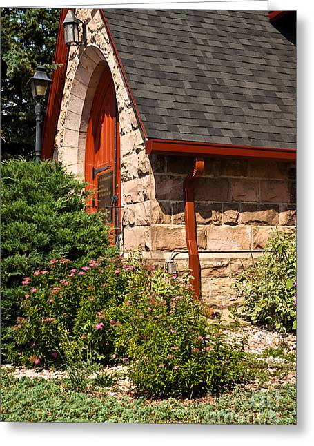 Side Entrance Greeting Card by Lawrence Burry