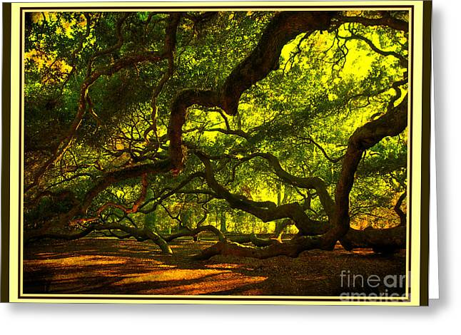 Side Limbs Of The 1400 Year Old Angel Oak Greeting Card by Susanne Van Hulst