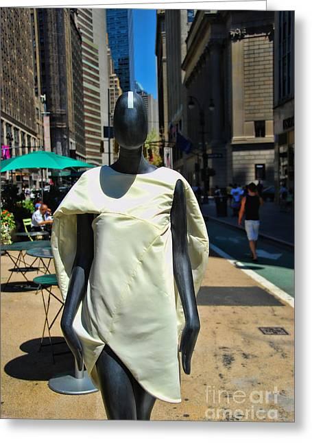 Sidewalk Catwalk 3 A Greeting Card by Allen Beatty