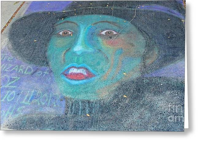 Greeting Card featuring the photograph Sidewalk Halloween Contest by Janette Boyd