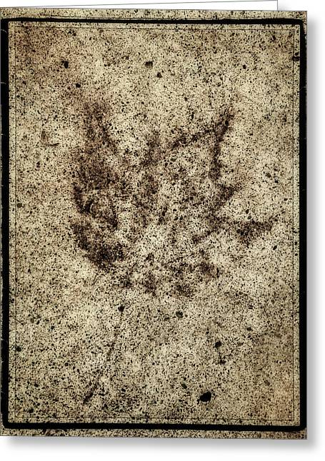 Sidewalk Imprint Greeting Card by Ken Stanback
