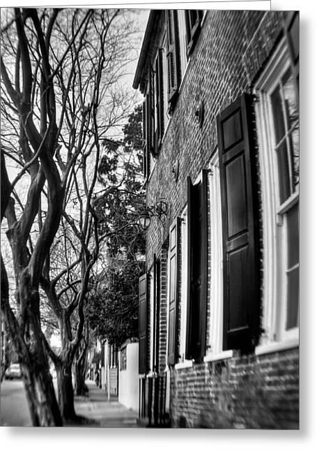 Sidewalk Scene-charleston Greeting Card by Andrew Crispi