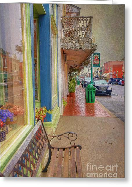 Sidewalk Shot Weston Missouri Greeting Card by Liane Wright