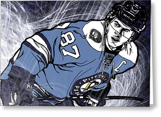 Sidney Crosby Greeting Card by Nate Gandt