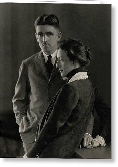 Sidney Howard And Clare Eames Greeting Card by Edward Steichen
