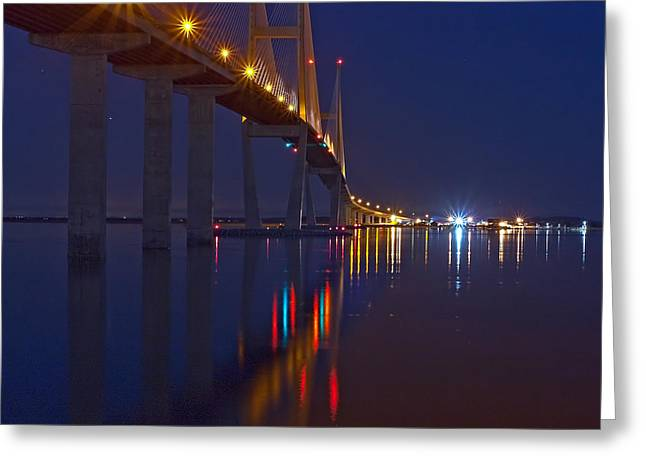 Sidney Lanier At Night Greeting Card
