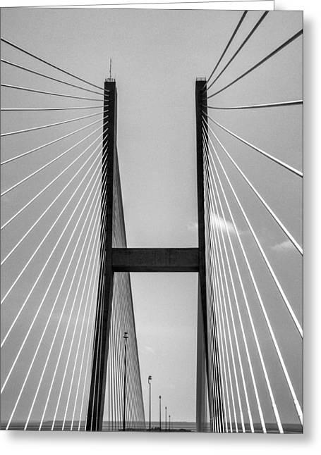 Sidney Lanier Bridge Greeting Card by Ginger Wakem