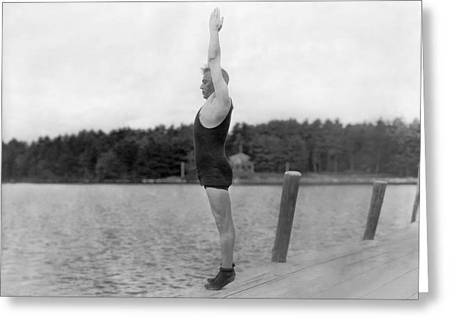Sidney Olcott On A Dock Greeting Card
