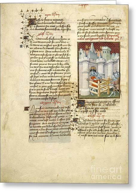Siege Of Babylon Greeting Card
