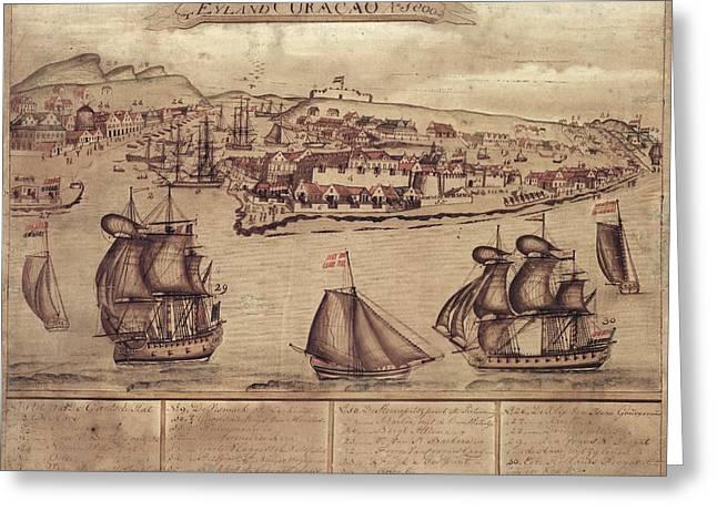 Siege Of Curacao Greeting Card