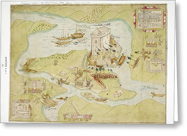 Siege Of Enniskillen Castle Greeting Card