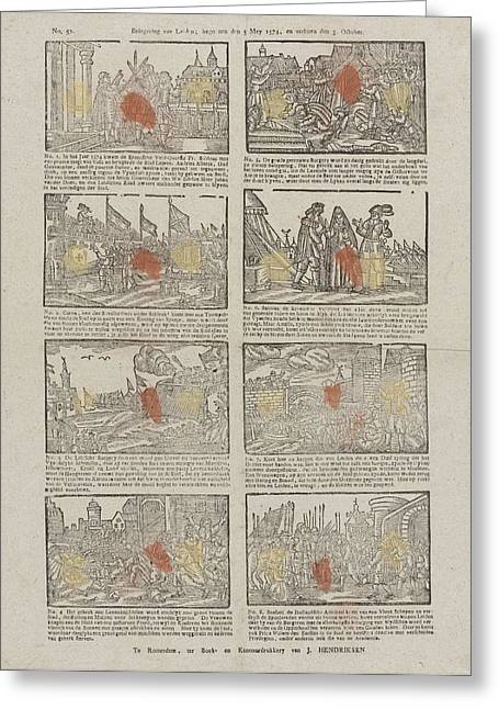 Siege Of Leiden The Netherlands Started The Fifth Mey 1574 Greeting Card
