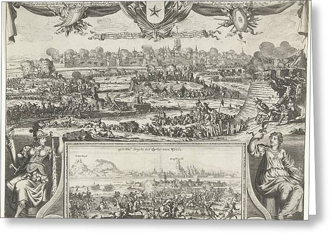 Siege Of Maastricht By Louis Xiv, 1673, Gaspar Bouttats Greeting Card by Gaspar Bouttats