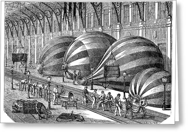 Siege Of Paris Balloon Factory Greeting Card