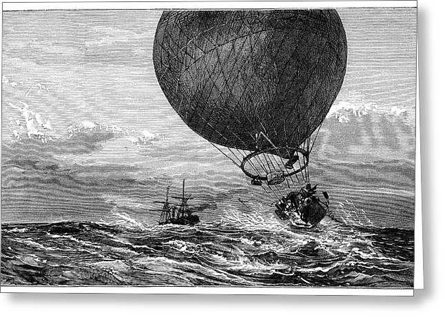 Siege Of Paris Balloon Flight Greeting Card