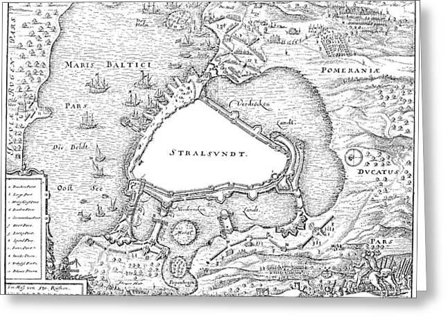 Siege Of Stralsund, 1628 Greeting Card by Granger