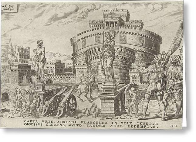 Siege Of The Engelenburcht, 1527, Dirck Volckertsz Coornhert Greeting Card by Dirck Volckertsz Coornhert And Hieronymus Cock
