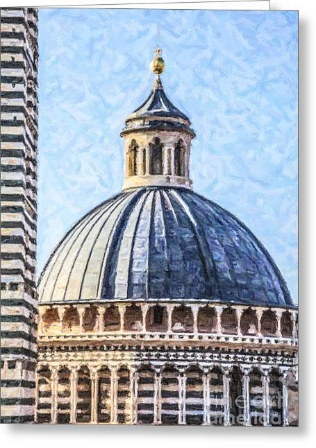 Siena Duomo Tuscany Italy Greeting Card