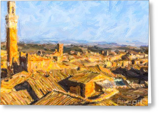 Siena Rooftops Italy Greeting Card