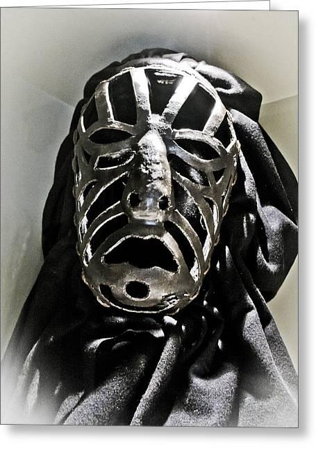 Siena Torture Mask Greeting Card by Robert Ponzoni