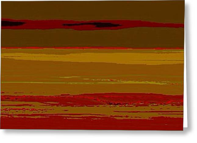 Greeting Card featuring the digital art Sienna Vista by Anthony Fishburne