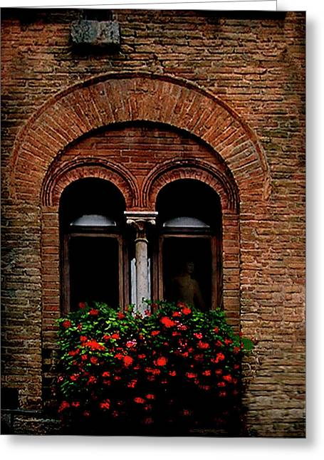 Sienna Window Greeting Card