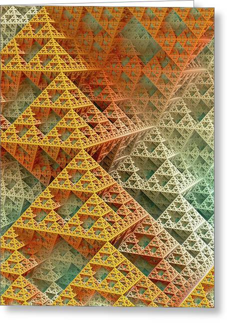 Sierpinski Triangles Greeting Card