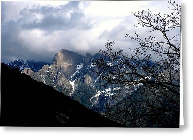 Greeting Card featuring the photograph Sierra Nevada Snowy View by Matt Harang