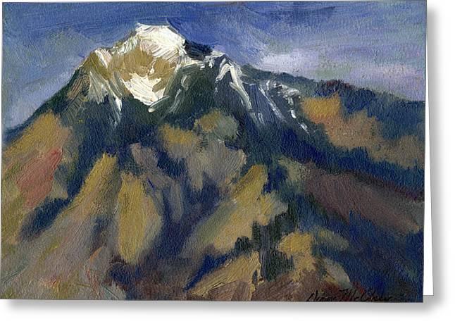 Sierra Nevadas Mount Tom Greeting Card