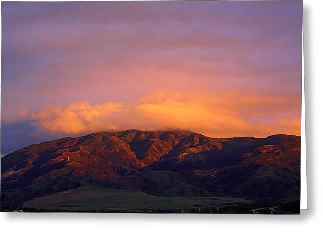 Sierra Peak Greeting Card by Viktor Savchenko