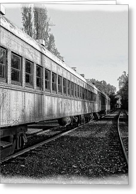 Greeting Card featuring the photograph Sierra Railway On The Tracks by William Havle