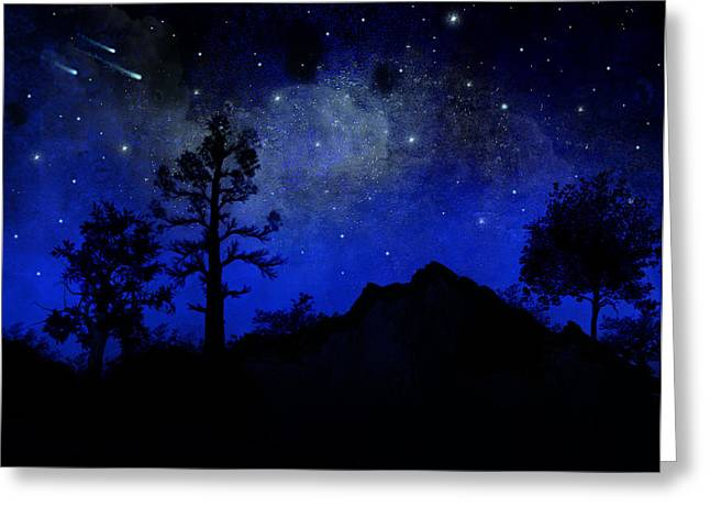 Sierra Silhouette Wall Mural Greeting Card by Frank Wilson
