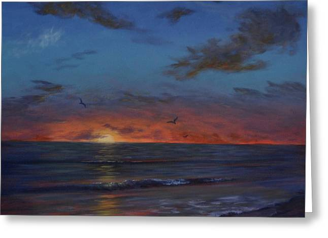 Siesta Key Sunset Greeting Card by Alan Zawacki